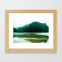 Foggy Beach in Oregon Framed Art Print