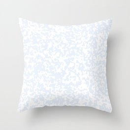 Small Spots - White and Pastel Blue Throw Pillow