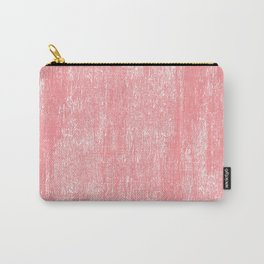 Coral white modern watercolor paint brushstrokes Carry-All Pouch