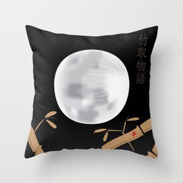 Tale of the Bamboo Cutter Throw Pillow
