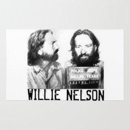 Willie Nelson Mug Shot Rug