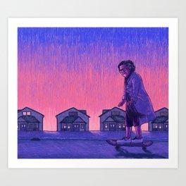 The Skateboarder Art Print