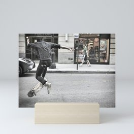 Mid-Air Skater Mini Art Print