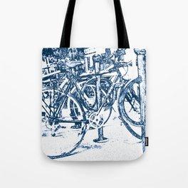 Blue Bicycles Tote Bag
