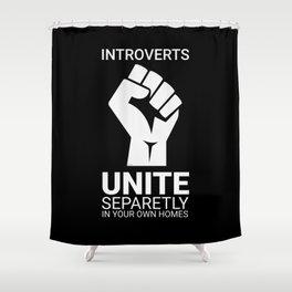 Introverts unite- Dark Shower Curtain