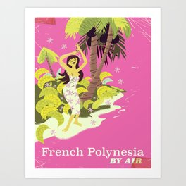 French Polynesia by air Art Print