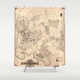 Map Of Flushing 1894b Shower Curtain