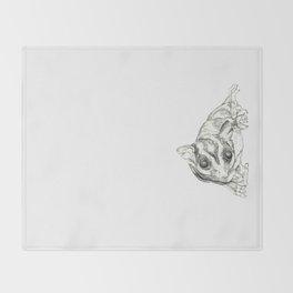 A Sketch :: A Sugar Glider Named Loki Throw Blanket