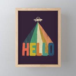 Hello I come in peace Framed Mini Art Print