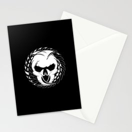 Skull Head Two Stationery Cards