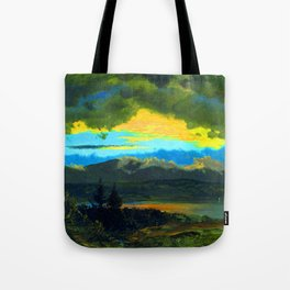 Frederic Edwin Church Sunset Across the Hudson Valley Tote Bag