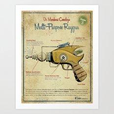 Retro Futuristic, Steampunk Raygun Art Print