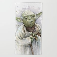 Yoda Beach Towel