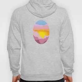Sixties Inspired Psychedelic Sunrise Surprise Hoody
