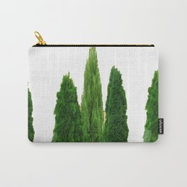 GREEN CYPRESS TREES ON WHITE Carry-All Pouch