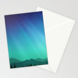 Aurora Synthwave #10 Stationery Cards