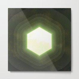 Earth II Hexahedron Metal Print