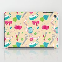 sewing iPad Cases featuring Sewing Session by Valentina Cariel
