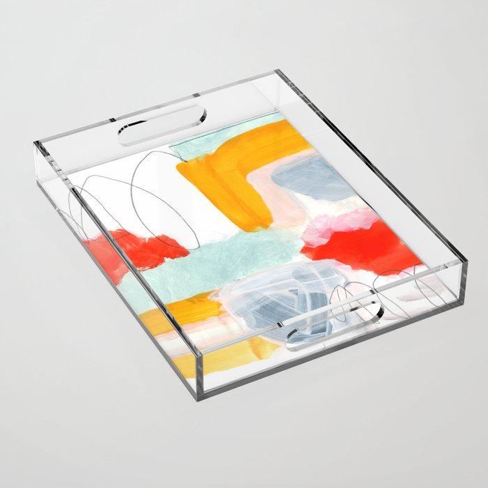 abstract painting XVI Acrylic Tray