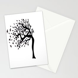 Tree Birds x2 Stationery Cards