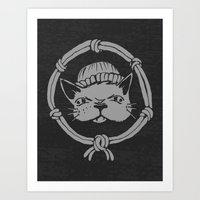 Argh Kitty Art Print