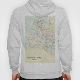 Vintage Map Of The Roman Empire Hoody
