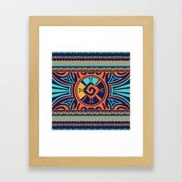 Colorful Hunab Ku Mayan symbol #2 Framed Art Print