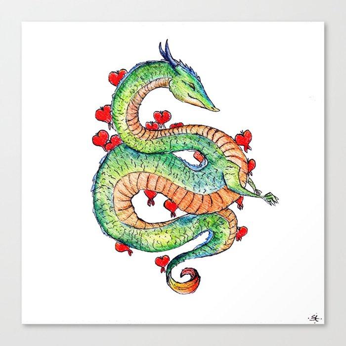 Chinese Zodiac: Dragon Canvas Print by stellaelhorst