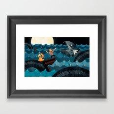 Sea Monster!! Framed Art Print