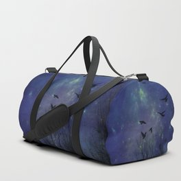Celestial Night Of Crows Duffle Bag