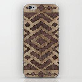 Ethnic Geometric Wooden texture pattern iPhone Skin