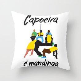 capoeira é mandinga Throw Pillow
