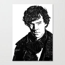 Sherlock B&W Canvas Print