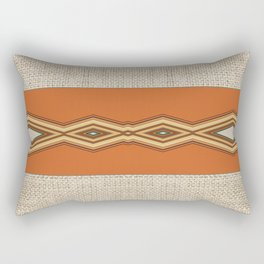Southwestern Earth Tone Texture Design Rectangular Pillow