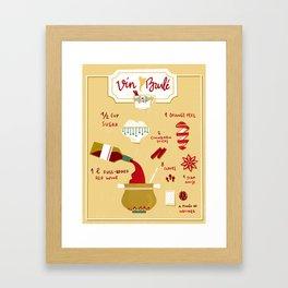 Vin Brulé - Illustrated recipe Framed Art Print