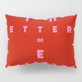 Pink on Red Pillow Sham