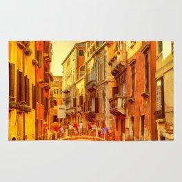 Golden Venice Canal Rug