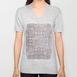 Ethnic pattern geometric Unisex V-Neck