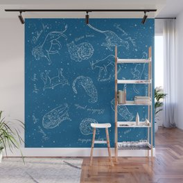 Big Cats Constellations (Light Blue Sky) Wall Mural