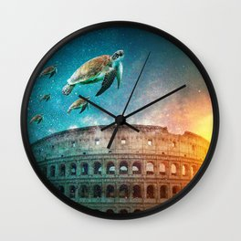 Roma under the water Wall Clock
