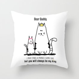 Fathers Day Girls Love Throw Pillow