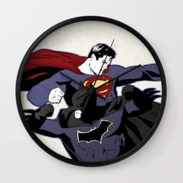 Fighting Baddies Wall Clock