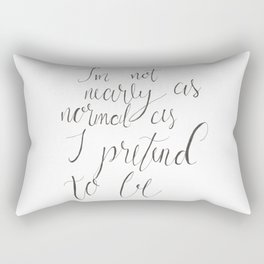 Not Nearly Normal Rectangular Pillow