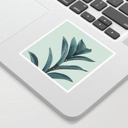 Teal Mint Plant Sticker