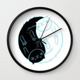 Ying Yang Kitties Wall Clock