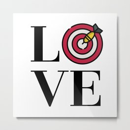 Love Darts Metal Print