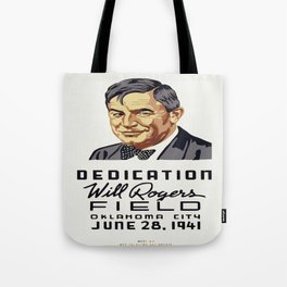 Vintage poster - Will Rogers Field Tote Bag
