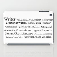 writer iPad Cases featuring Writer by Rebekah Joan