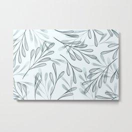 Simple Leaves 2 Metal Print