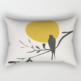 Bird and the Setting Sun Rectangular Pillow